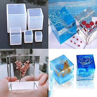Creative Cube Shape Candle Soap Making Silicone Mold - Aromatherapy Resin