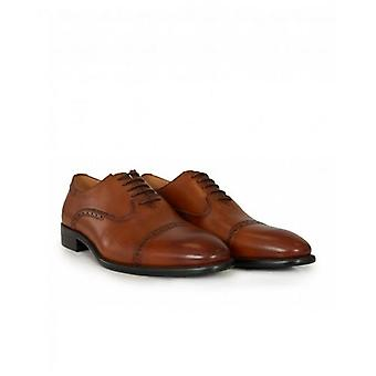 Paolo Vandini Toe Cap Leather Punch Detail Shoes
