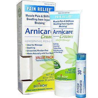Boiron, Arnicare Cream, Smärtlindring, 2,5 oz (70 g), Appr. 80 Pellets