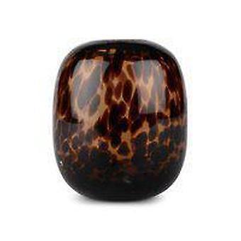 Vidro de vaso estampado marrom 14 cm