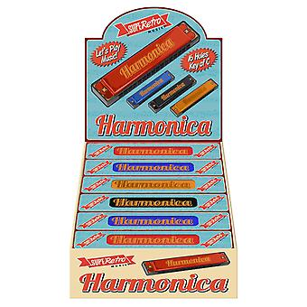 Superetro Harmonica 16 Holes Key of C (One Supplied)