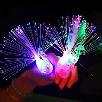 Flash Led Cartoon Glowing Ring Light Finger - Light Magic Wand Glowing Bracelet Necklace Toy Small Gift