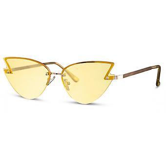 النظارات الشمسية المرأة القط العين كات. 2 الذهب / الأصفر