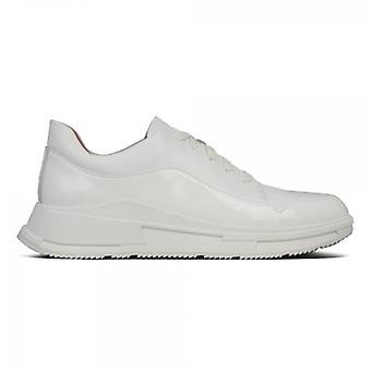 FitFlop Freya Ladies Leather Trainers Urban White