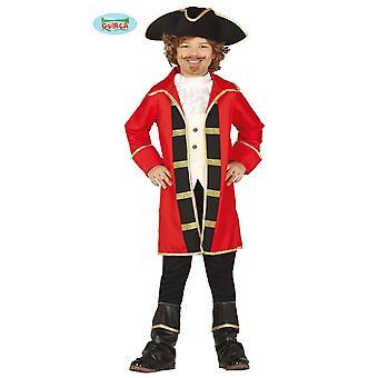 Fantasia de pirata do pirata casaco vermelho criança traje pirata pirata