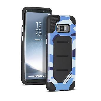 Samsung Galaxy S8 Plus Hybrid Cover Outdoor Hard TPU et Plastic Camouflage Blue