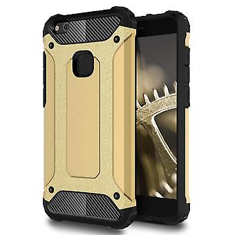 Shell for Huawei P10 Lite - Hard Armor Protection Gold Case