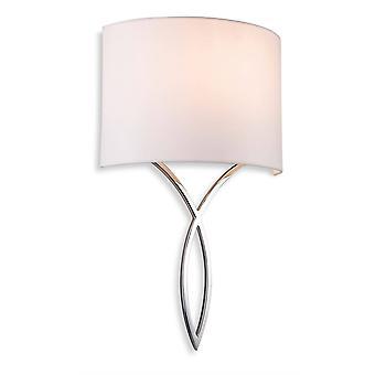 Firstlight Conrad - 1 Light Indoor Wall Light Chrome, Cream Shade, E27