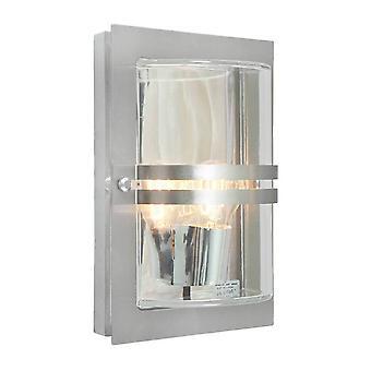 Elstead - 1 luz exterior flush pared acero inoxidable IP54, E27