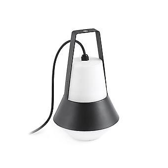 Faro Cat - 1 Light Outdoor Table Lamp White, Black IP54, E27