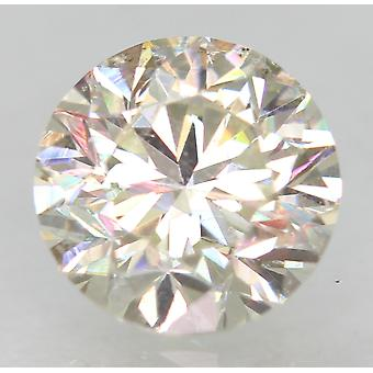 Certified 0.93 Carat H VVS2 Round Brilliant Enhanced Natural Diamond 6.06mm 3VG