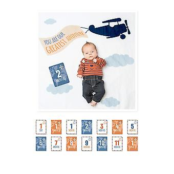 Lulujo Baby's First Year Photo Blanket