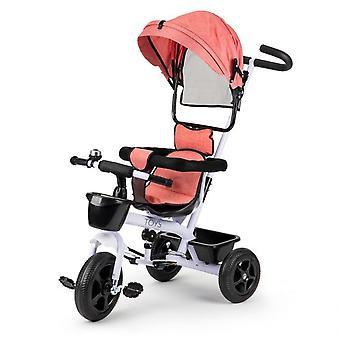 Passeggino e bici per bambini in-1 bianco con rosa