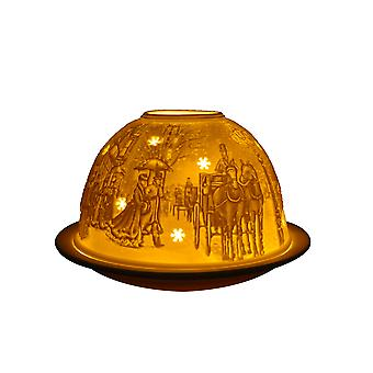 Light-Glow Victorian Candle Holder Dome