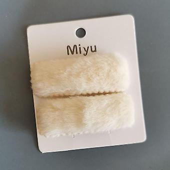 Cute Plush Furr Hair Pin Set