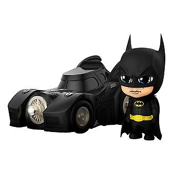 Official DC Comics Batman with Batmobile 1989 Cosbaby Set