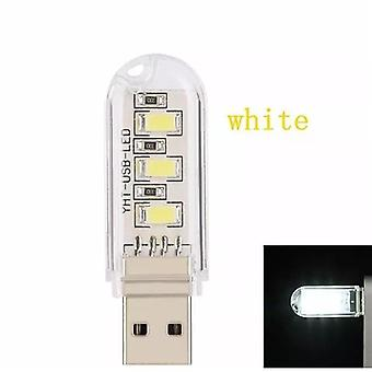 Mini Usb Led Light Table Lamp Portable Night Light  - Warm White Lamp Camping Bulb
