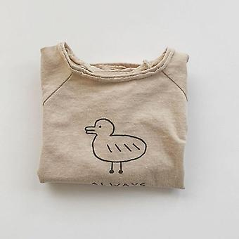 Summer Kids Clothes, And Blouse, With  Cotton Little Duck