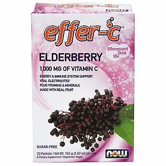 Now Foods Effer-C Elderberry Sugar Free with BetterStevia and Xylitol, 30 Packets