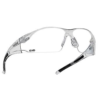 Bolle Safety RUSH Safety Glasses - Clear HD BOLRUSHDPI