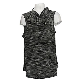Lisa Rinna Collection Women's Top Cowl Neck Sleeveless Black A290934