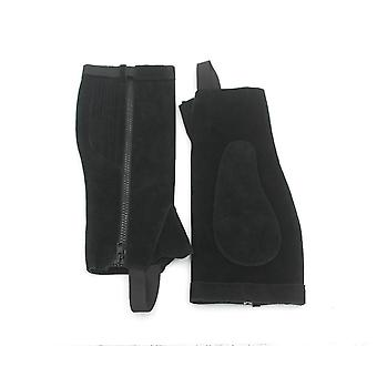 Horse Riding Half Chaps Suede Leather Equestrian Body Protector Equipment -