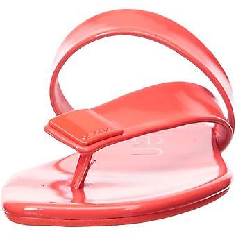 Calvin Klein Women's SAURIN Sandal, Pink Flrscnt, 5M M US