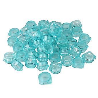 50x contenedores cosméticos de 5 gramos contenedor de muestra para crema azul