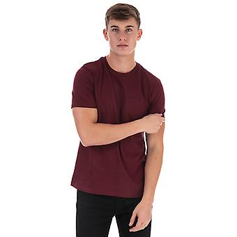 Men's Ben Sherman Skript bestickt T-Shirt in rot