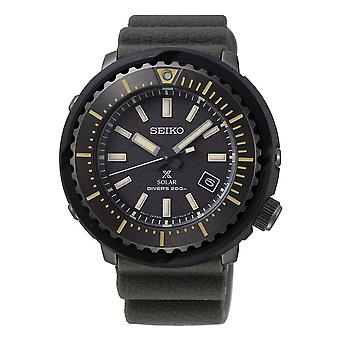 Seiko SNE543P1 Prospex Noir & Khaki Vert Silicone Diver 's Solar Watch