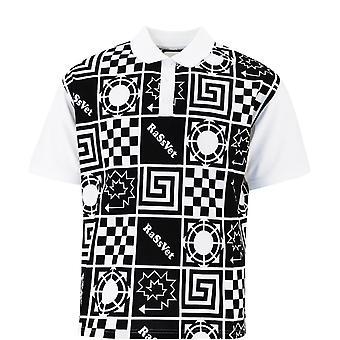 Paccbet Pacc7t003white Men's White/black Cotton Polo Shirt