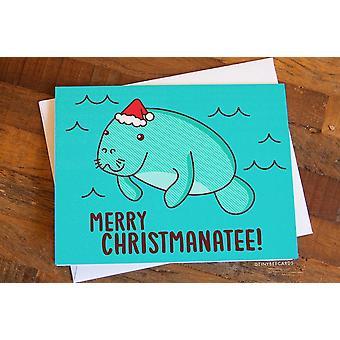 Funny Manatee Christmas Card