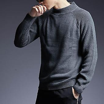 Sweater Man, Pullovers Turtleneck Slim Fit, Jumpers Knitwear, Thick, Autumn,