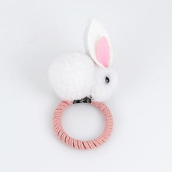 Cute Animal Hairball Rabbit Hair Ring Female Rubber Band Elastic Hair