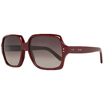 Celine Burgundy Women Sunglasses