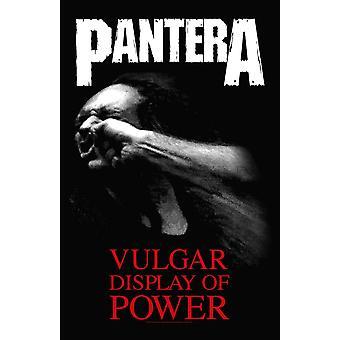 Pantera Poster Vulgar Display Of Power new Official 70cm x 106cm Textile Flag