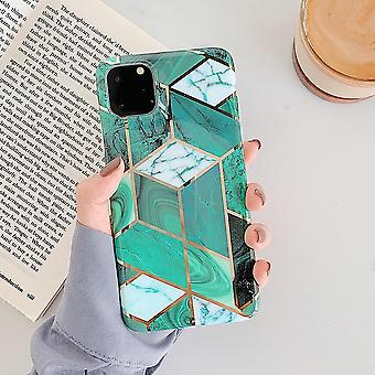 High Quality Soft Imd Plating Geometric Marble Phone Case, Cover