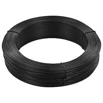 vidaXL Fence Binding Wire 250 m 1.6/2.5 mm Steel Anthracite