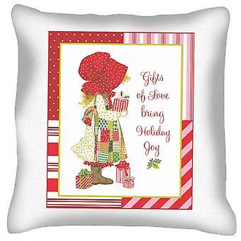 Holly Hobbie Christmas Gifts Of Love Bring Holiday Joy Cushion