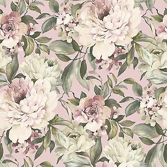 Gardenia Glitter Wallpaper Blush Pink Holden 36070