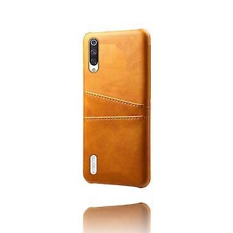 Dual Pocket Leder Shell Fall für Xiaomi Redmi 5 Plus - Orange