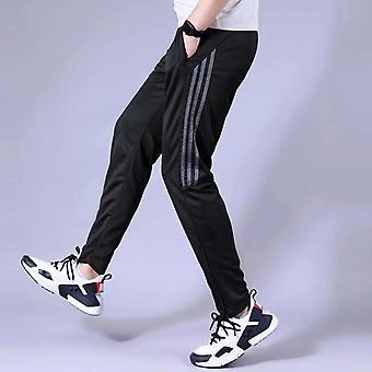 Mens τρέχοντας παντελόνι, αθλητική τσέπη φερμουάρ leggings, αθλητικό ποδόσφαιρο, ποδόσφαιρο