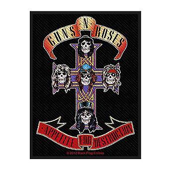 Guns N Roses Patch Appetite Band Logo nouveau Noir officiel