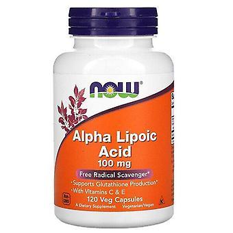 Now Foods, Alpha Lipoic Acid, 100 mg, 120 Veg Capsules