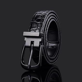 Fashion Pu Leather Waist Art Designer Strap Pin Buckle Pants Belt Formal Suit