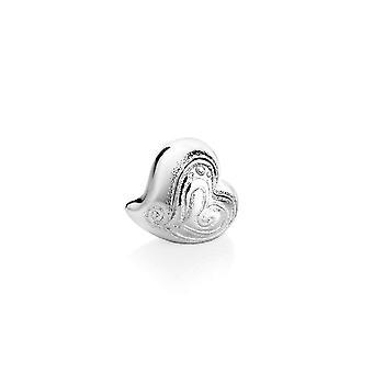 Silber Herz Tischdekoration aus Harz, Silber, A5 cm