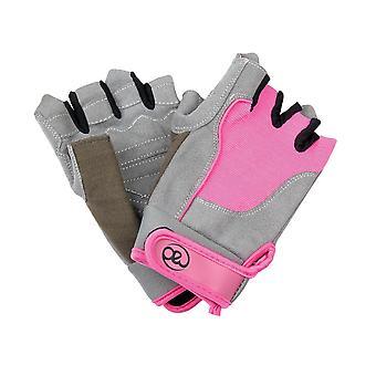 Fitness damas loco cruzan guantes de entrenamiento en rosa - medio