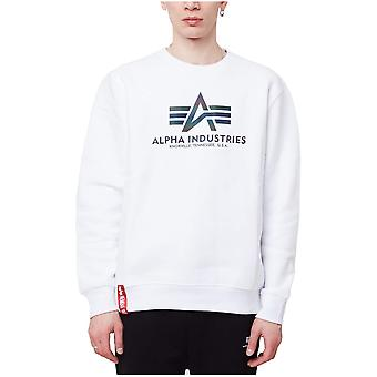 Alpha Industries Basic Sweater Rainbow Reflective Print 178302RR09 sweatshirts universels pour hommes