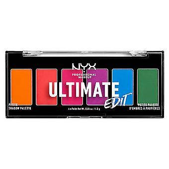 NYX Ultimate Edit Petite Shadow palette Brights 6 tonos