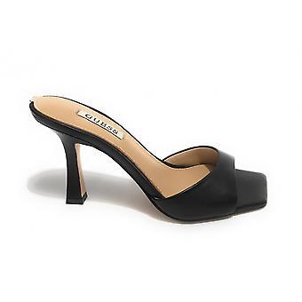 Guess Sandalo Seala Tc 90 Black Leather Shoes Ds21gu50 Fl6sealea19